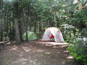 Camping rustique pour tentes